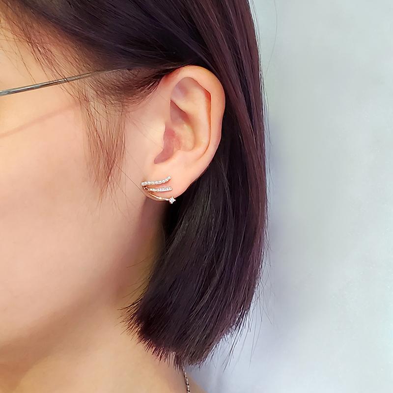珍珠耳環排鑽耳環三爪耳環銀針抗過敏鋯石耳環韓系耳環