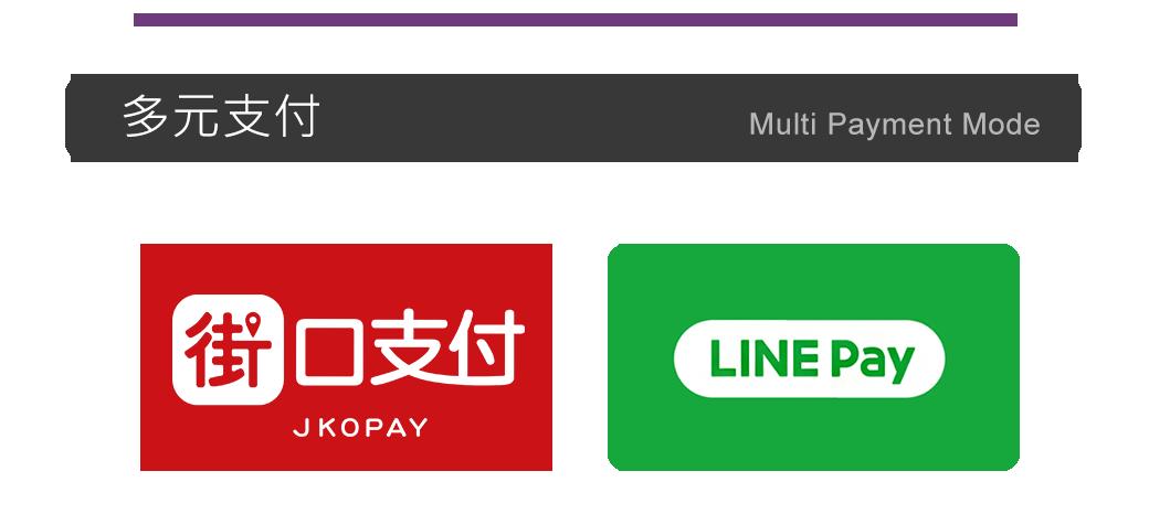 采銀有多元付款,紅色街口支付,綠色LINEPAY,可以多加利用!